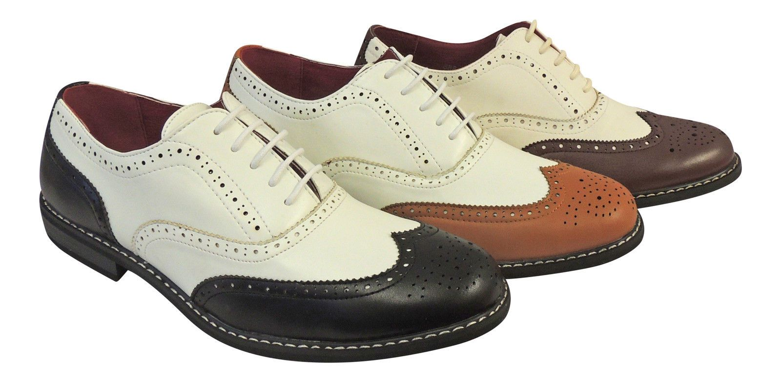 san francisco official site factory outlet Vintage 1920 s 30 s 40 s mens Two Tone Wing tip Spectator Jazz ...